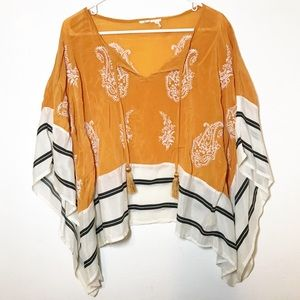 Anthropologie | Floreat Sunglow Caftan Top Small